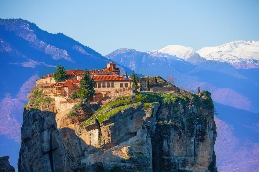 Парящие в воздухе монастыри Греции